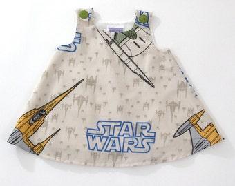 Star Wars Girls Dress - Baby Dress, Toddler Dress, Girls Dress - Sizes 6 - 12 Months to Girls 3T - Spacecraft, Millennium Falcon