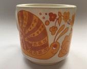 Retro snails in love mug Staffordshire 1970's retro