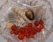 Amber Sea Glass Mix Smooth Round Frosted Bead 14mm, 12mm, 10mm, 8mm (Qty 20) PH-SGMIX-AMBR