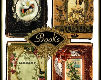 Junk Journal Vintage Alterd Art Book Covers Digital Printable INSTANT DOWNLOAD