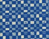 Cotton + Steel Print Shop - grid blue - fat quarter