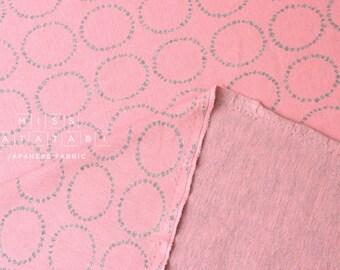 Japanese Fabric Moon Interlock Knit - pink - 50cm
