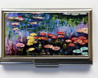 Water Lilies Business Card Holder Card Case Claude Monet