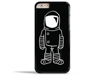 iPhone 7 Case Astronaut iPhone 6s Case Brave Moonman Black and White Samsung Galaxy S7 Case