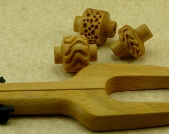 WD  RH2 SMALL Wood Handle for Small Wood Texture Rollers Ceramic Clay Pottery