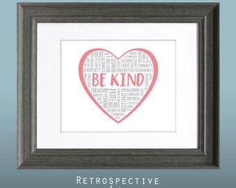 Be Kind 8x10 Inch Printable