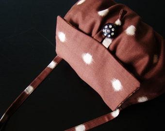 SAMPLE SALE - Kimono beans handbag -  Dots