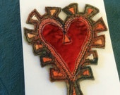 Fabulous felt heart brooch.