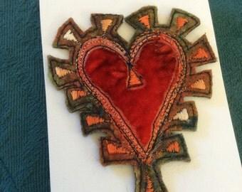 Fabulous felt heart brooch.