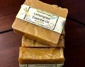 Lemongrass Essential Oil Cold Process Soap