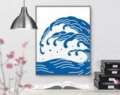 DL-W010, 5x7, 8x10, 11x14, 16x20 - 4 sheets, Instant download PDF, Printable, Japan modern decor, Digital prints, Poster, Japanese Art print