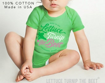 SALE lettuce turnip the beet ® trademark brand OFFICIAL SITE - green bodysuit with cursive logo