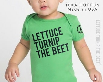 lettuce turnip the beet ® trademark brand OFFICIAL SITE - green cotton bodysuit - seen in Pregnancy and Newborn magazine