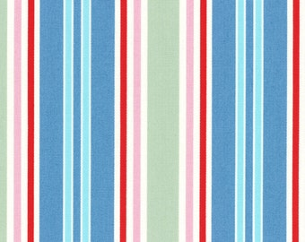Au maison oilcloth stripe big dusty blue coated cotton 1 m for Au maison oilcloth uk