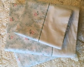Twin Bedding Set - Petite Peach & Green Pattern - No- Iron - Two Sets Available  - Twin Bedding Linens