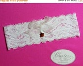 SALE 10% OFF White Lace Handmade Toss Garter with Cincinnati Bengals Charm