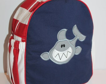 Custom Made Shark Backpack for a Toddler/Preschooler