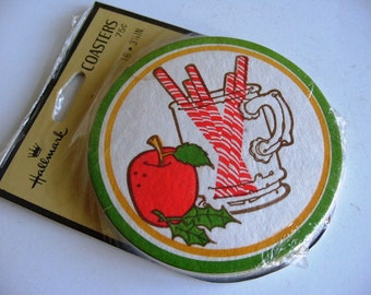 Vintage Holiday Party Coasters Set of 16