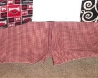 CLEARANCE Burgundy Plaid Crib Skirt