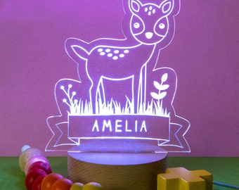 Personalised Deer Children's Night Light