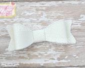 White Glitter Bow - 3D Bow - Girls Bow - Toddler Bows