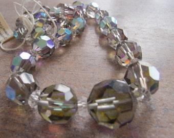 Vintage Beads Swarovski Rare Starlight AB Crystal Beads - Graduated Strand