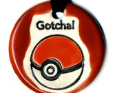 Gotcha! Team Valor Ceramic Necklace in Red