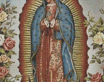 Our Lady of Guadalupe tapestry bead pattern for loom or peyote