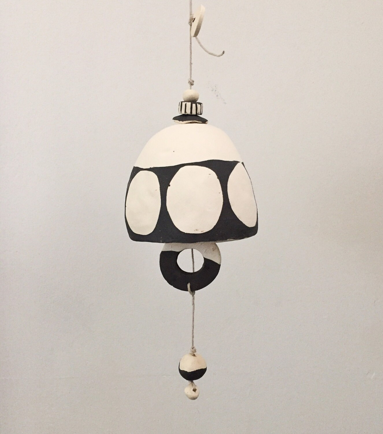 Large Ivory Brown Belle Chime 2
