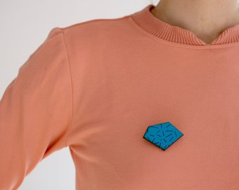 Screenprinted Wooden Brooch - The PatternShop Collection