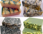 4 PRIMARY Handmade Coconut Milk Soaps - your choice of scents