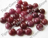 Gemstone Cabochon Ruby Round 5mm FOR ONE