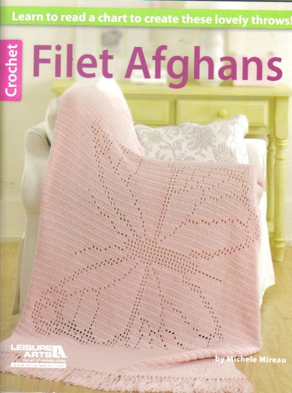 Simple Crochet Book Cover ~ Filet afghans crochet book soft cover patterns