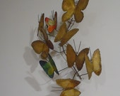 rare early signed curtis jere wall mounted butterfly metal sculpture brutal art modernist