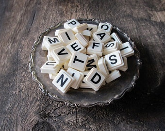 64 Vintage Upwords Alphabet Game Letters