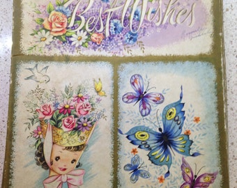 Empty Greeting Card Box - Vintage - Crafts Assemblage Upcycle