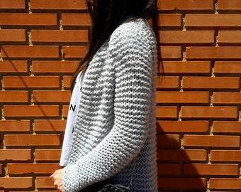 Patagonia Cardigan, PDF knitting pattern - Instant Download - Chunky knit wool cardigan knitting pattern, garter stitch jacket, chunky knit