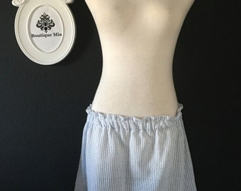 Will fit Size S up to M - Ready to MAIL - Ladies Seersucker Skirt - by Boutique Mia