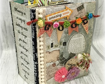 AMAZING GOOD TIMES All Occasion Interactive Scrapbook Scrapbooking Chipboard Album Magnet Closures
