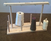 Fiber Artist Supply Co., LLC 8 Spool Maple Weavers' Yarn Cone Holder with Hardware Assembly
