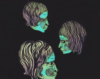 Three Women (Blue Green) - FINE ART PRINT