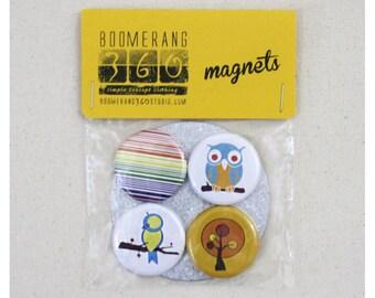 Magnet Pack Set of 4 - 1.25 Inch Fridge Magnets