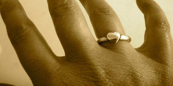 Heart Stacker Ring-Eco Friendly-Vegan Ring-Vegan Jewelry-Recycled Metals-Vegan Gift-Cruelty Free-
