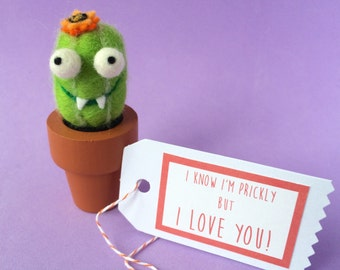 Fanged Cactus with Your Choice of Message