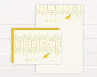 HONEY Personalized Stationery + Notepad Set - Personalized Notepad and Personalized Stationary