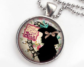 Cowgirl Bling Necklace, Western Cowgirl Pendant, Western Bling, Cowgirl Boho Style, Boho Western Pendant, Photo Pendant Necklace
