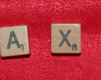Custom mini letter tile Tie Tack