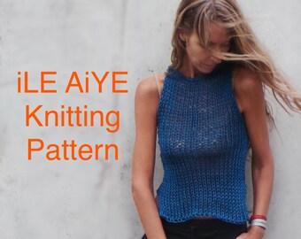 Slim Tank Top Pattern, Easy Knitting Pattern, DIY pattern,