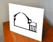 Architecture Papercut, Roman Pantheon, 11x14 or 8x10 Original hand-cut paper art