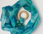 Silk and Wood Fairy Ring-- ocean colors